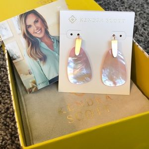 Kendra Scott Marty Lilac Earrings with Rose Gold